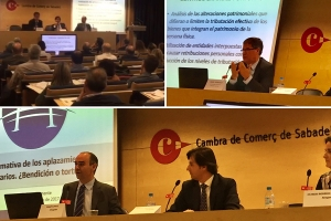 Intervención de Magín Pont en la Jornada Fiscal, Legal y Aseguradora organizada en la Cambra de Comerç de Sabadell