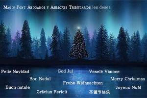 Magín Pont Abogados y Asesores Tributarios les desea Feliz Navidad